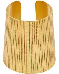 Herve Van Der Straeten Gold-Plated Etched Cuff gold - Lyst