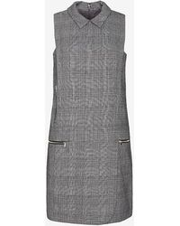 Exclusive For Intermix Houndstooth Pattern Collar Dress - Lyst