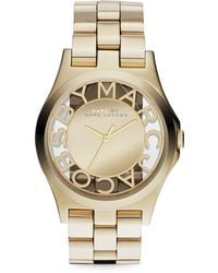 Marc By Marc Jacobs Yellow Golden Mirror Watch - Lyst