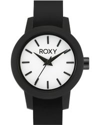 Roxy - 'the Monica' Round Silicone Strap Watch - Lyst