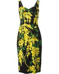 Dolce & Gabbana Mimosa Floral Dress green - Lyst