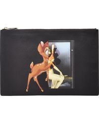 Givenchy Bambi & Female Form Large Zip Pouch black - Lyst