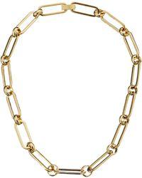 Lauren by Ralph Lauren Bar Harbor 18 Oval Chain W Foldover Closure Necklace - Lyst
