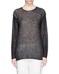 Helmut Lang Inverse Mohair Knit Sweater - Lyst