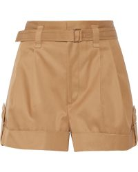Marc Jacobs Pleated Cotton-Twill Shorts - Lyst