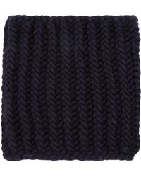 Wool And The Gang - Nellson Navy Knitted Snood - Lyst