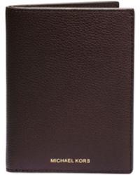 Michael Kors Jet Set Pebbled-Leather Passport Cover - Lyst