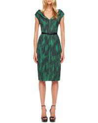 Michael Kors Printed Cady Dress - Lyst