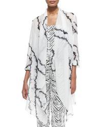 Haute Hippie Printed Sheer Chiffon Open Cloak - Lyst