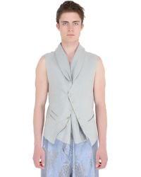 Haider Ackermann Linen & Silk Jacquard Vest - Lyst