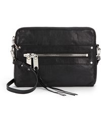 Milly Riley Leather Crossbody Bag - Lyst