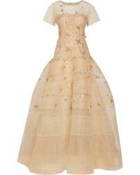 Oscar de la Renta Embellished Tulle Gown - Lyst