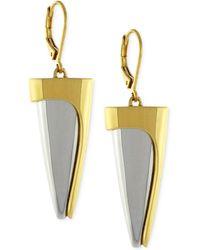 Vince Camuto Two-Tone Spike Drop Earrings - Lyst