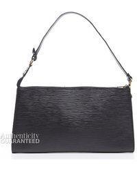 Louis Vuitton Preowned Black Epi Leather Pochette Accessories Bag - Lyst