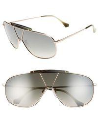 Balenciaga Women'S 66Mm Shield Sunglasses - Rose Gold/ Green Mirror - Lyst