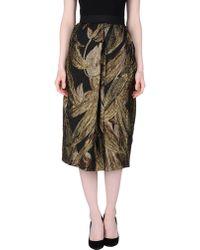 Nineminutes 3/4 Length Skirt gold - Lyst