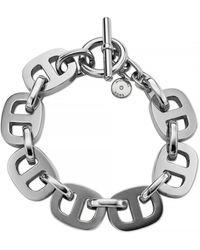 Michael Kors Silver-tone Maritime Link Bracelet - Lyst