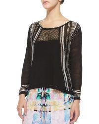 Nanette Lepore Flyaway Mesh Pullover Top - Lyst