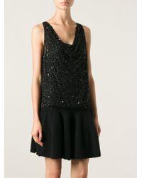Alice + Olivia Black Beaded Dress - Lyst