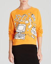 Moschino Cheap & Chic Sweatshirt - Prehistoric Graphic Print - Lyst