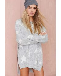 Nasty Gal Star-crossed Split Sides Sweater - Lyst