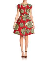 Stella Jean Scarabeo Mixed-Print Dress - Lyst