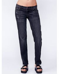 Free People Low Rise Relaxed Skinny - Lyst