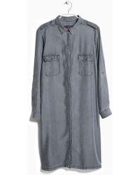 Violeta by Mango Belt Shirt Dress - Lyst
