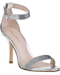 Pelle Moda Kacey Evening Sandal Silver Leather - Lyst