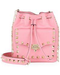 Valentino Mini Rockstud Drawstring Bag - Lyst