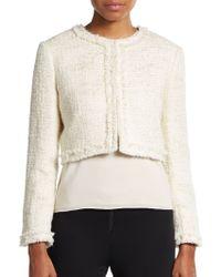 Alice + Olivia Cropped Tweed Jacket - Lyst