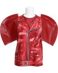 Junya Watanabe T-Shirt red - Lyst