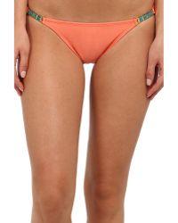 ViX Solid Peach Detail Brazilian Bottom - Lyst
