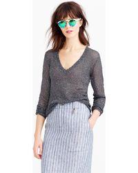 J.Crew Iridescent Shimmer V-Neck Sweater - Lyst