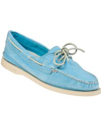 Sperry Top-Sider Authentic Original 2 Eye Washed Mint Fabric - Lyst