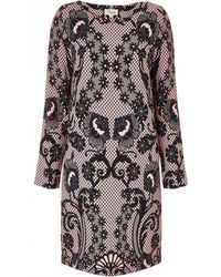 Temperley London Plume Jacquard Knit Dress pink - Lyst