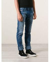 Diesel Distressed Straight Jeans - Lyst