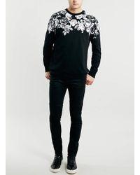 LAC - Bk Floral Printed Neck Sweatshirt - Lyst
