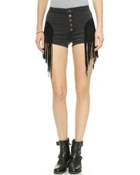 House Of Harlow Lea Shorts - Rocker Black - Lyst