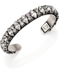 Dannijo Alla Crystal Cuff Bracelet - Lyst