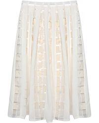 Pixie Market | Be Mine Organza Midi Skirt | Lyst