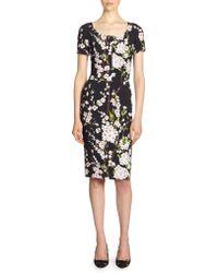 Dolce & Gabbana Floral Print Scoopneck Dress - Lyst