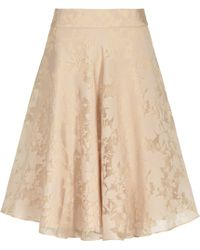 Reiss Elsa Devore A-Line Skirt brown - Lyst