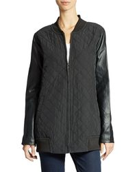 DKNY Quilted Bomber Jacket - Lyst