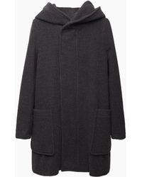 Zucca - Hooded Wool Coat - Lyst