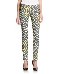 Just Cavalli Abstract Striped Skinny Jeans - Lyst