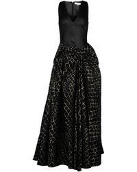 Viktor & Rolf Black Long Dress - Lyst