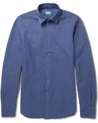 Incotex Slim-fit Jacquard Cotton Shirt - Lyst