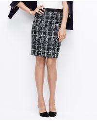 Ann Taylor Textured Pencil Skirt - Lyst