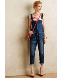 Current/Elliott Boyfriend Overalls - Lyst